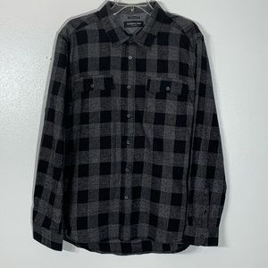 Kenneth Cole NY Plaid Flannel Button Up Shirt - XL